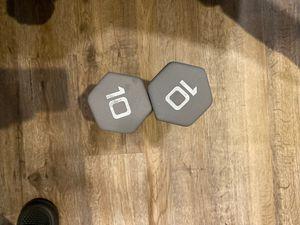 CAP neoprene 10lb dumbbell pair for Sale in Pittsburgh, PA