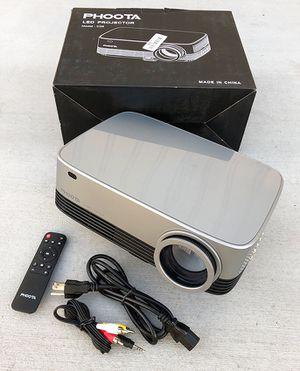 "New in box $120 PHOOTA 3D Home Theater Projector 4500 Lux, Ratio 5000:1, Full 1080P, 200"" Display (TV, USB, HDMI, HiFi) for Sale in Pico Rivera, CA"