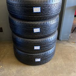 4 Used Tires 275/55/R20 Continental . Free Mount And High Speed Balance Included for Sale in Bellflower,  CA