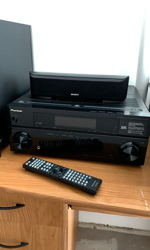 Pioneer VSX-1120 Audio/Video Multi-Channel Receiver (+ Sony Speaker System) for Sale in Oakland, CA