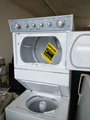 Whirlpool 27 inch gas stacked washer and dryer new 2yr warranty free local delivery new for Sale in Fort Washington, MD