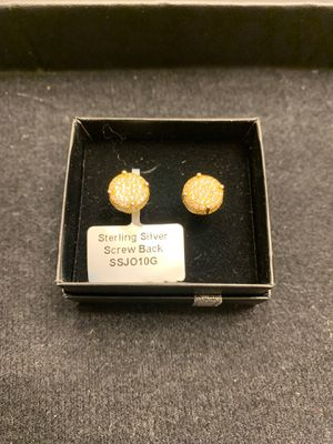 Lab Diamond Earrings w/ screw back for $70!! for Sale in Laurel, MD