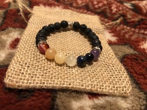 Chakra bracelet with lava beads for Sale in Carmichael, CA