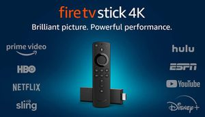 Fire TV Stick 4K streaming device with Alexa, Ultra HD, Dolby Vision, includes the Alexa Voice Remote for Sale in Saginaw, TX