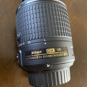 Nikon 55-200mm DSLR camera lens for Sale in Cedar City, UT