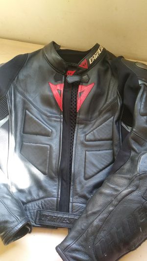 Men's Dainese Leather Motorcycle jacket. Sz 54 for Sale in Costa Mesa, CA