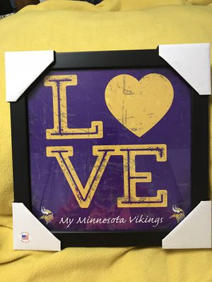 LOVE. My Minnesota Vikings Wall Hanging for Sale in Sioux Falls, SD