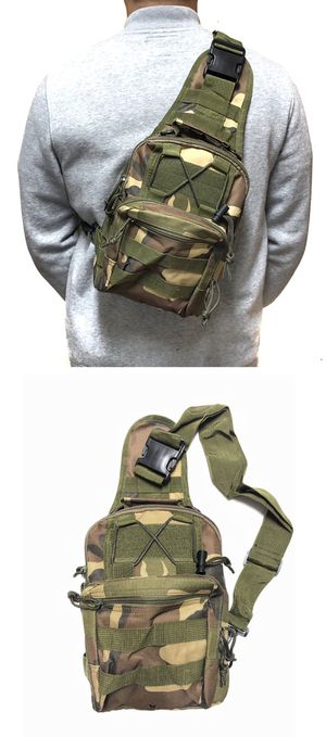 NEW! Camouflage Tactical military style Side Bag Cross body bag backpack sling pouch chest bag camping hiking day pack shoulder travel bag molle for Sale in Carson, CA