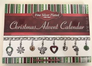 New In Sealed Box - Fine Silver Plated Christmas Advent Calendar Charm Bracelet/Necklace for Sale in Hillsboro, OR