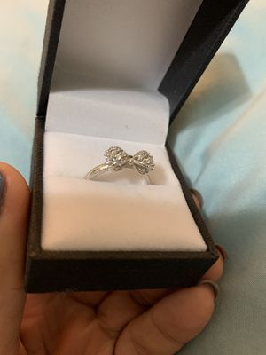 Promise ring sterling silver BOW style size 7 for Sale in Tacoma, WA