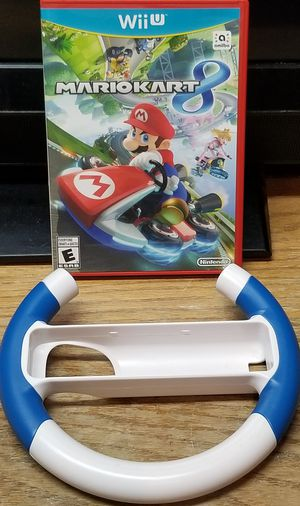 Mario Kart 8 Nintendo Wii U + Wheel! for Sale in Fresno, CA