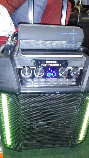 Ion Pathfinder 3 & UE Bluetooth speaker for Sale in Visalia, CA