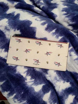 Coach pouch wallet.Brand new. Perfectly sized for cash, cards and phone. for Sale in Bakersfield, CA