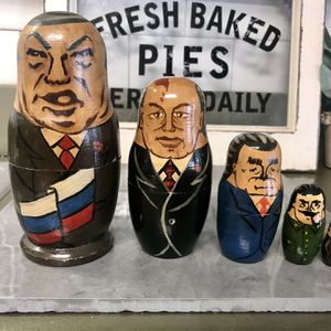 Vintage Russian Political Figures Nesting Dolls for Sale in Hanover Park, IL