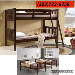 Twin / twin bunk bed w / mattress for Sale in Downey, CA