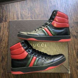 "Gucci black & red leather ""Ronnie"" high top sneaker for Sale in San Marcos, CA"