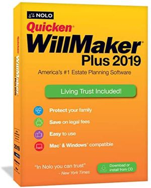 New Quicken WillMaker Plus 2019 and Living Trust software for Sale in Chino, CA