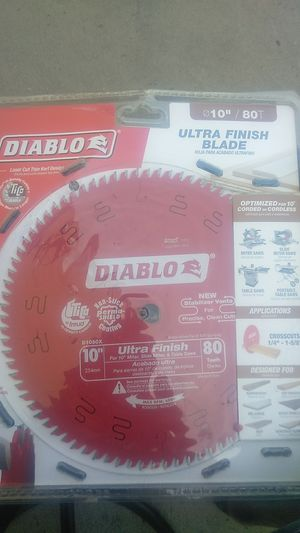 "Diablo ultra finish 10"" miter table saw for Sale in Highland, CA"