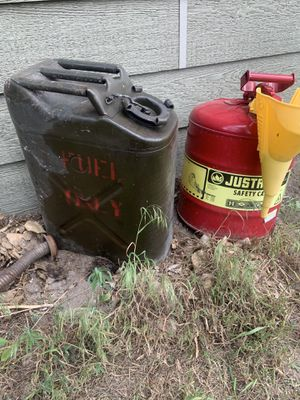 Two Metal Gas Cans for Sale in Great Falls, MT