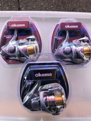 reel okuma avenger new $ 15 dollars each for Sale in Fullerton, CA