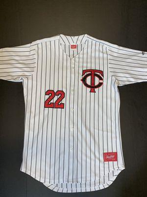 Authentic Minnesota Twins Rawlings Baseball Jersey for Sale in Salt Lake City, UT
