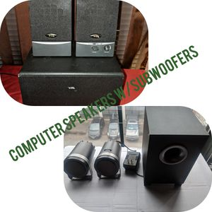 Two multimedia Speakers W/ Subwoofers for Sale in Richmond, VA