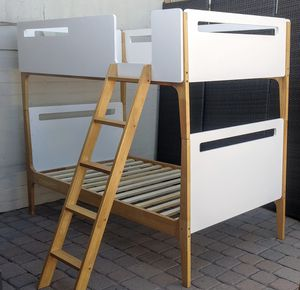 Gorgeous New High End Modern Solid Wood Twin Bunkbed Bunk Bed for Sale in Glendale, AZ