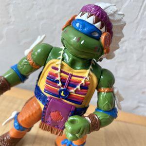 Vintage 1992 Teenage Mutant Ninja Turtles Indian Chief Leo, Leonardo TMNT Action Figure Collectable Toy for Sale in Elizabethtown, PA