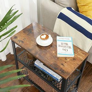 Side Table, End Table, Decorative Table with 2 Mesh Shelves for Sale in Beverly Hills, CA