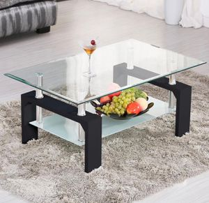 Brand New! Black Modern Glass Top Coffee Table for Sale in Orlando, FL