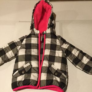 Carter Buffalo Check Hot Pink Girl Size 2 Winter Coat Jacket for Sale in South San Francisco, CA