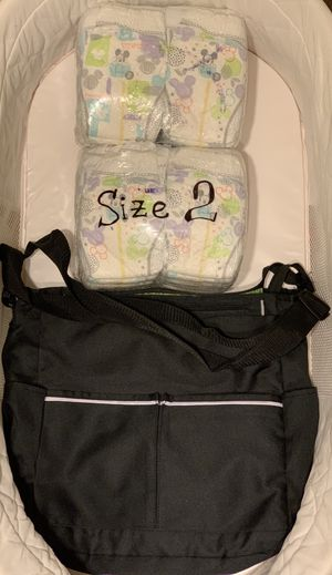 Diaper bag + 48 diapers for Sale in Austin, TX