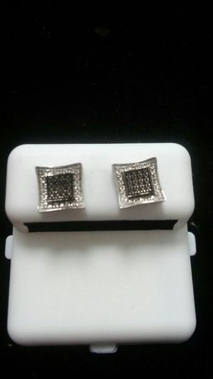 Mircopave white and black Diamond Earrings for Sale in Columbus, OH