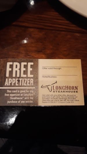 Free appetizer at Longhorn Steakhouse in Cross County Yonkers for Sale in The Bronx, NY
