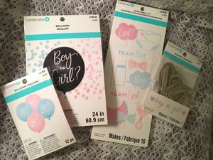 Gender Reveal Party Balloons, Banner and Photo Prop Kit for Sale in Eugene, OR