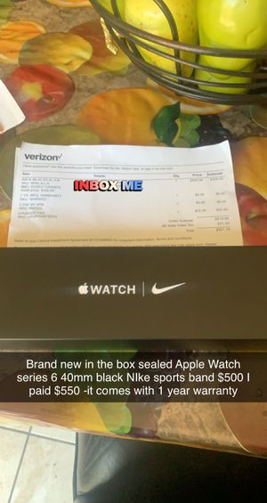 "Apple Watch series 6 40mm Nike sport-band ""brand new"" ""Sealed"" for Sale in Sterling Heights, MI"