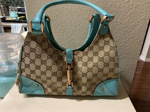 Authentic Vintage Gucci GG Teal Purse for Sale in Ruskin, FL