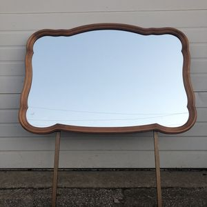 $50 Firm. 1 French style vintage wood framed mirror for a dresser or wall. No dresser. for Sale in Irving, TX