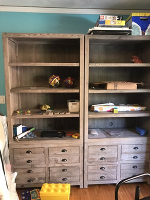 Restoration Hardware bookshelves and drawers for Sale in San Diego, CA