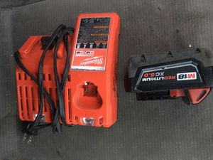 Milwaukee charger and battery for Sale in Clanton, AL