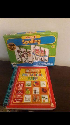 Preschool/K-5 Prep book new & word game for Sale in Coconut Creek, FL