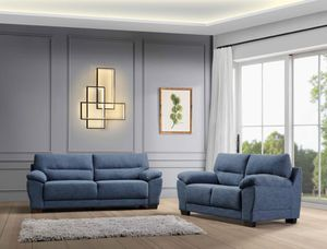 NEW MENDOZA FABRIC SOFA AND LOVE SEAT. BLUE. ONLY $699. NO CREDIT CHECK OR ONE YEAR DEFERRED INTEREST FINANCING AVAILABLE for Sale in Lakeland, FL