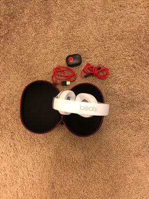 Beats Studio Headphones White with premium leather for Sale in Alexandria, VA