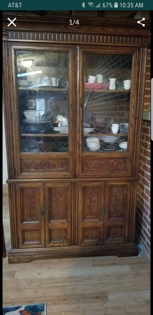Solid wood China cabinet for Sale in Carbondale, IL