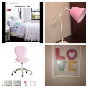 Pottery Barn Teen items (quilt, table lamp & artwork) for Sale in Bothell, WA