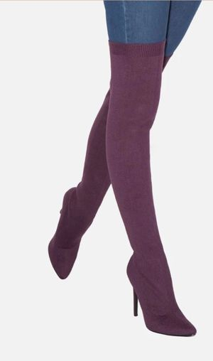 Tall Deep Purple Boots 6.5 for Sale in Naperville, IL