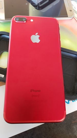 red iphone 7plus 128gb for att or cricket only for Sale in San Diego, CA