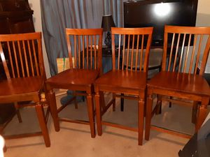 4 bar height chair's for Sale in San Antonio, TX