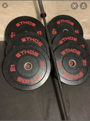 Ethos weight set & Olympic bar for Sale in Lawrenceville, GA