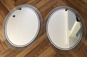 2 Oval Mirrors w/Frosted Glass Trim (Mounting Hardware on the back) *GREAT Condition!* for Sale in Gardena, CA